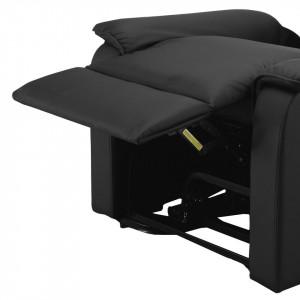 Scaun cu masaj Cubillo, piele naturala, negru