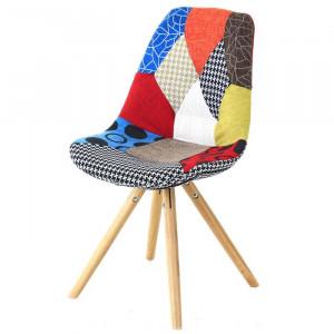Scaun Healdton, lemn, multicolor, 84 x 49 x 55 cm