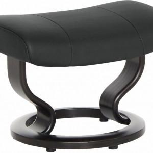 Scaun pentru picioare Garda, negru, 54 x 38 x 39 cm