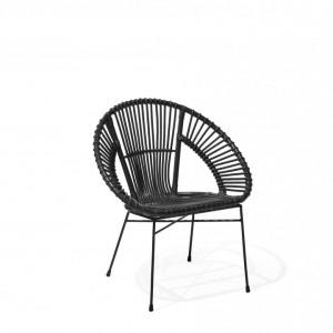 Scaun Sarita, negru, 70 x 48 x 80 cm
