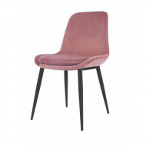 Scaun tapitat Yara, roz/negru, 84,50 x 51 x 55 cm