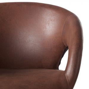 Scaun tip fotoliu Woodlawn II, piele sintetica, maro