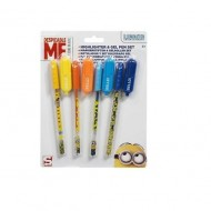 Set 4 markere si 4 pixuri Despicable me