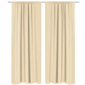 Set de 2 draperii Babson, crem, 140 x 175 cm