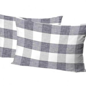 Set de 2 fețe de pernă Sortilège gri deschis, 50x80 cm