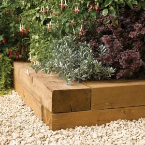 Set de 2 jardiniere Ketterman din lemn, 10cm H x 90cm W x 20cm D