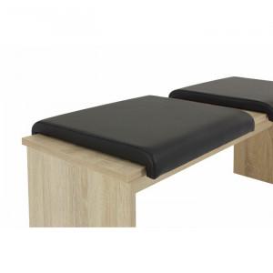 Set de 2 perne pentru banca Loftin, negre, 35 x 35 cm