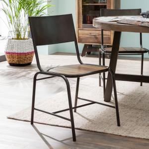 Set de 2 scaune Atelier, salcam/metal