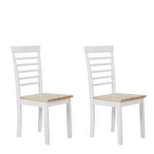 Set de 2 scaune Battersby, maro/alb, 40 x 40 x 94 cm