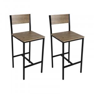 Set de 2 scaune de bar Delevan, H 70 cm