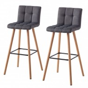 Set de 2 scaune de bar Panola, gri