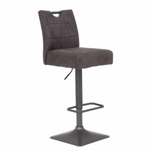 Set de 2 scaune de bar Topid, microfibra, gri