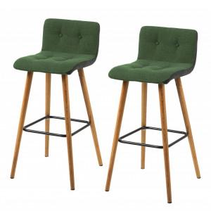 Set de 2 scaune de bar Troon Kaja, Verde