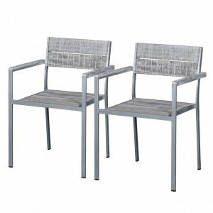 Set de 2 scaune de gradina Connor