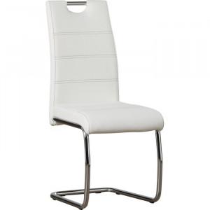 Set de 2 scaune Herbert, argintii/albe, 98 x 43 x 59 cm