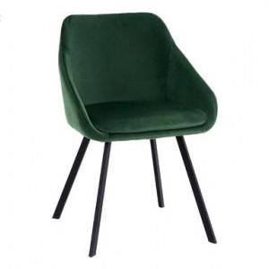 Set de 2 scaune Monza, catifea verde