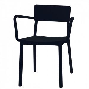 Set de 2 scaune Smilla, negru, 52 x 60 x 82cm