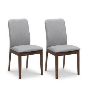Set de 2 scaune tapitate Union, gri, 89 x 48 x 50 cm