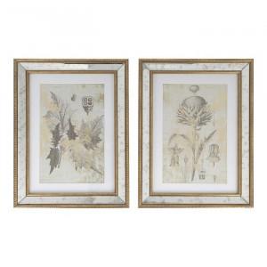 Set de 2 tablouri Fremont Botanical Studies