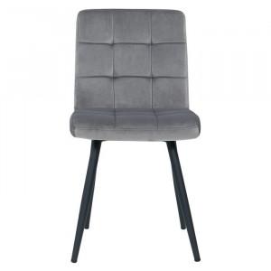 Set de 4 scaune Furst, lemn, gri, 84,5 x 43 x 41 cm
