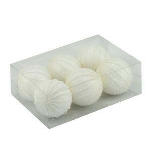 Set de 6 globuri Bianco con perle