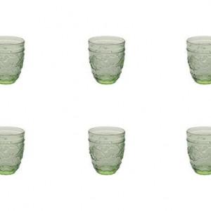Set de 6 pahare de apă Syrah Green 324 ml