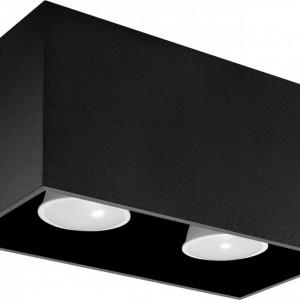 Spot de tavan Geo, negru, 10 x 20 x 10 cm