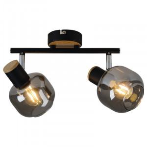 Spotlight Fumoso, metal/sticla, 9 x 16 x 31 cm