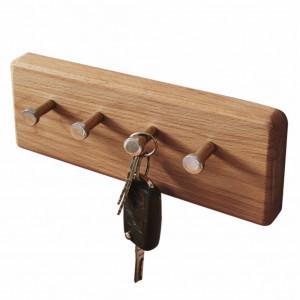 Suport pentru chei Anamur din lemn de fag/metal, maro, 25 x 10 x 5 cm