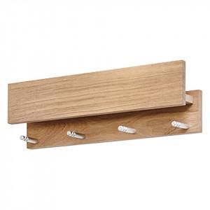 Suport pentru chei Moon lemn masiv de stejar, maro, 50 x 15 x 9 cm
