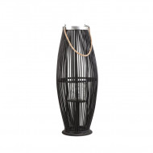 Suport pentru lumanari TAHITI, lemn, negru, 27 x 27 x 72 cm