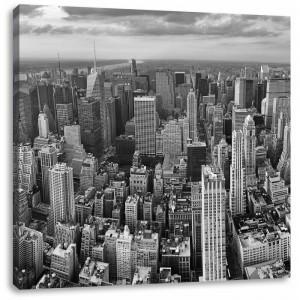 "Tablou ""New York Skyline"", alb/negru, 70 x 70 cm"