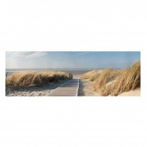 "Tablou ""Plaja Marii Baltice"", albastru/bej, 40 x 120 cm"