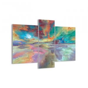 "Tablou ""Two Skies"", 3 piese, multicolor, 80 x 95 cm"