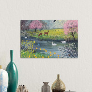 Tablou By Spring River by Jo Grundy, 45 x 66 cm