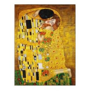Tablou Gustav Klimt, panza, auriu, 60 x 40 x 1,8 cm
