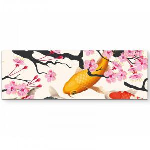Tablou Koi, multicolor, 120 x 40 cm
