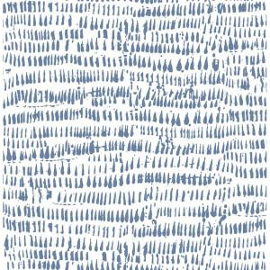 Tapet Runes Brushstrokes, albastru, 10m x 52cm