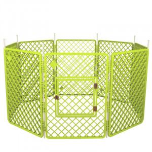 Tarc pentru animale, verde, 86 x 160 x 160 cm