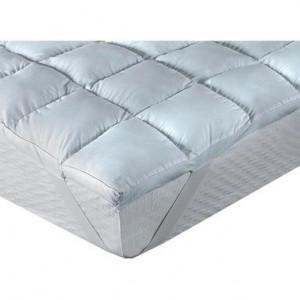 Topper in fibra antialergica Classic Blanc, 140x200 cm