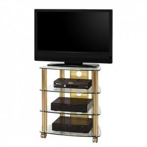 TV Stand Ottone II alama/sticla, transparent, 60 x 72 x 46.5 cm