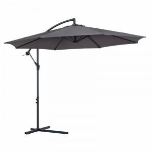 Umbrela de soare Wegate, gri/negru, 300 x 300 cm