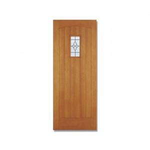 Ușă exterioară vitrată din lemn 1981 x 762 x 44 mm