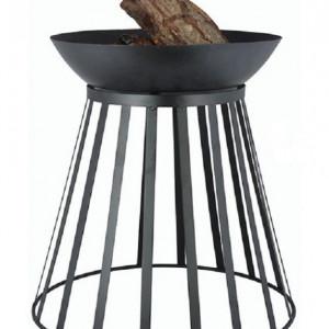 Vatra de foc reversibila Linoows, metal, negru, 49 x 47 cm
