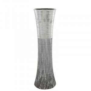 Vaza Malone din ceramica, gri / argintiu