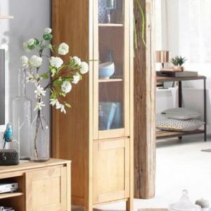 Vitrina Home Affaire, lemn masiv, 53/35/180cm