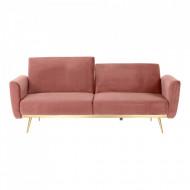 canapea extensibila roz prafuit