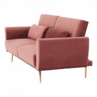 canapea extensibila 203x92x86 cm roz prafuit