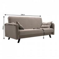 canapea extensibila 206x107x100 cm bej