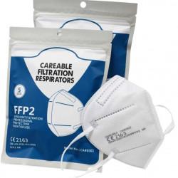 Masca FFP2 KN95 FuxiBio, CARE002, protectie ridicata, sigilate individual, certificate CE